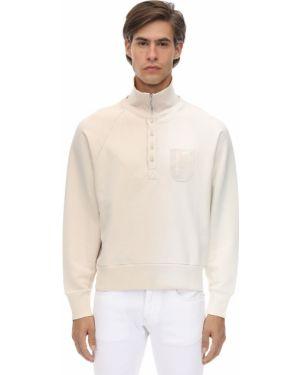 Prążkowana biała bluza bawełniana Gr Uniforma X Diesel Red Tag