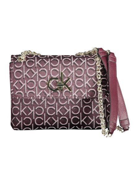 Fioletowa torba na ramię Calvin Klein