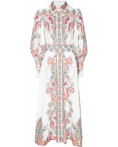 Платье макси с поясом льняное Zimmermann