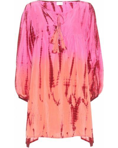 Розовая шелковая резинка для волос Anna Kosturova