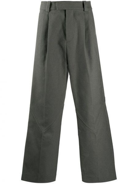 Серые брючные брюки свободного кроя с карманами Namacheko