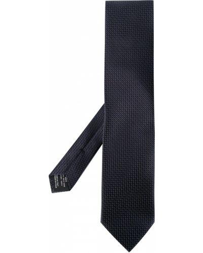 Шелковый синий галстук Tom Ford
