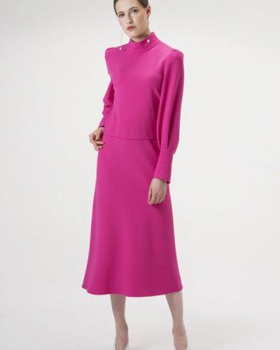 Платье розовое осеннее Белка
