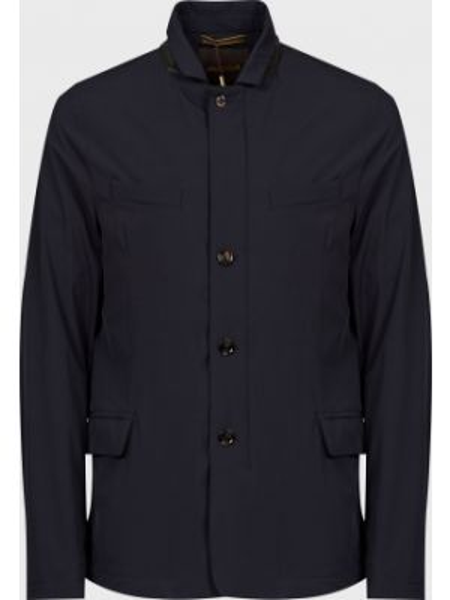 Куртка на пуговицах - синяя Moorer