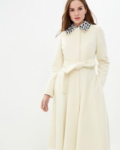 Пальто белое осеннее Grand Style