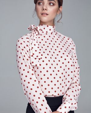 Bluzka w grochy oversize vintage Nife