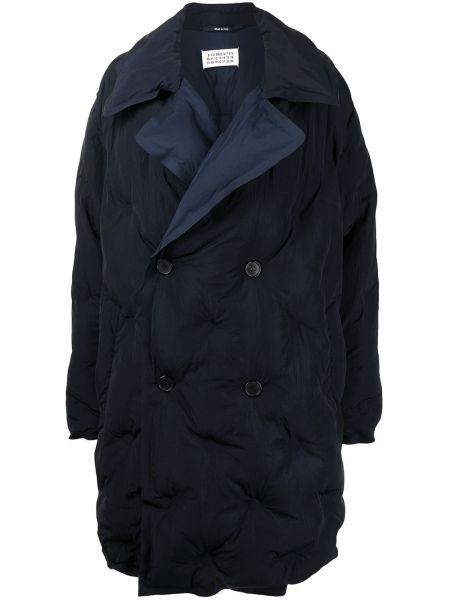 Стеганое пальто - синее Maison Margiela