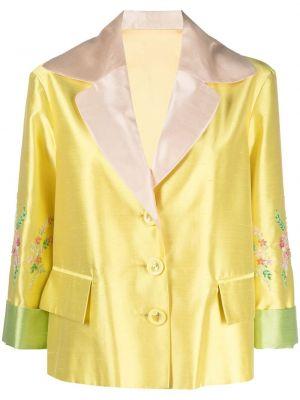 Шелковый желтый однобортный пиджак A.n.g.e.l.o. Vintage Cult