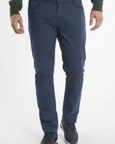 Хлопковые синие прямые джинсы Navigare