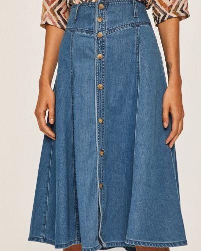 Юбка миди джинсовая на пуговицах Only