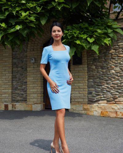 Прямое платье - голубое Golda