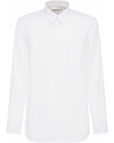 Bawełna koszula z mankietami z kieszeniami Givenchy