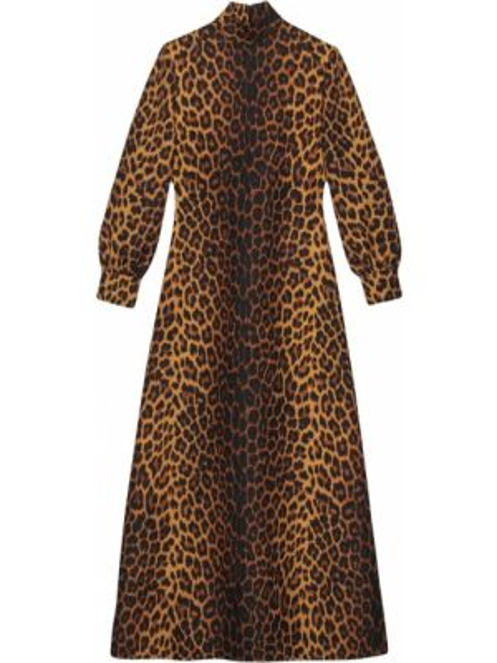 Платье леопардовое с принтом Gucci