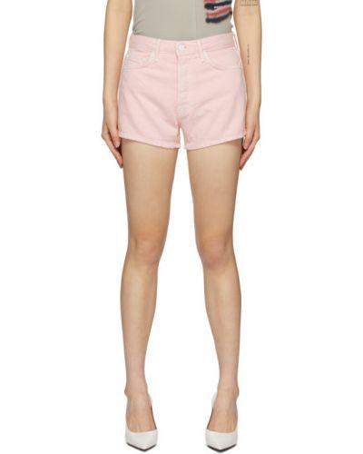 Джинсовые шорты с завышенной талией розовый Grlfrnd