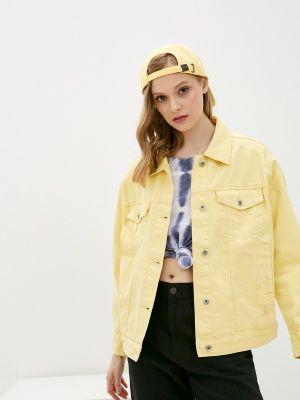 Желтая джинсовая куртка Befree