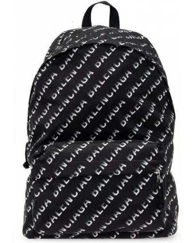 Czarny plecak w paski Balenciaga
