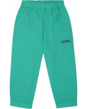 Zielone spodnie bawełniane The Animals Observatory