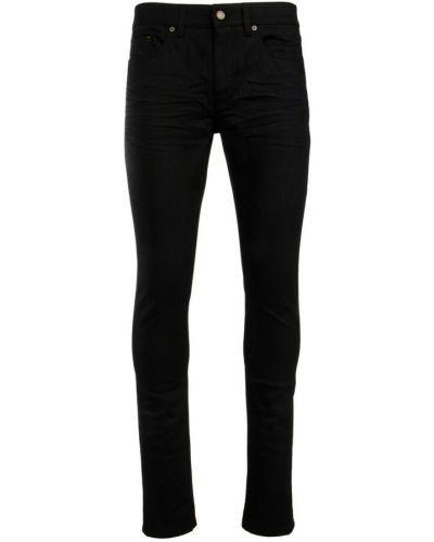 Mom jeans bawełniane - czarne Saint Laurent