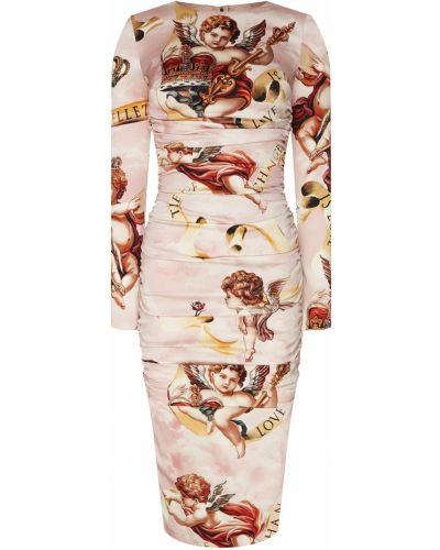 Платье миди пышное шелковое Dolce&gabbana