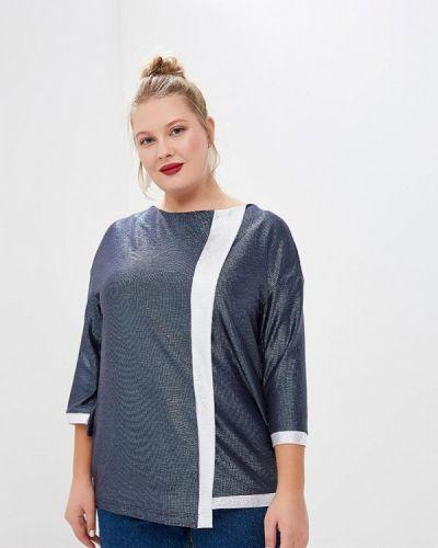 Блузка с длинным рукавом синяя Olsi