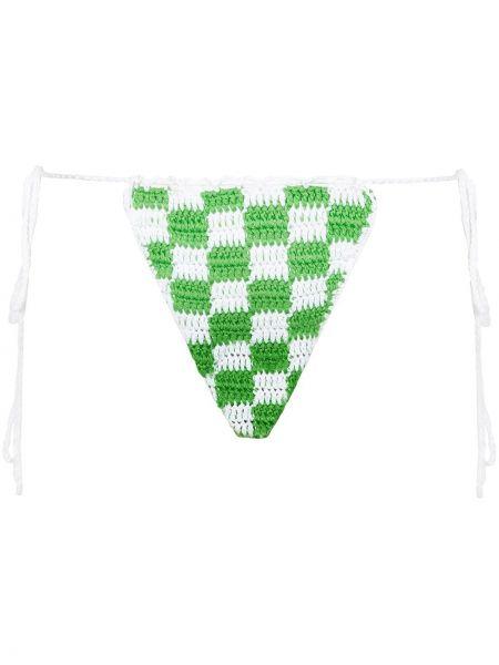 Зеленые пляжные плавки бикини с завязками Frankie's Bikinis