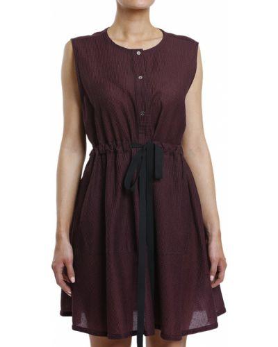 Платье из вискозы - бордовое Maison Margiela