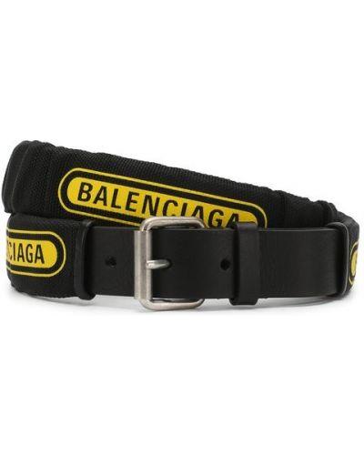 Черный ремень с логотипом Balenciaga