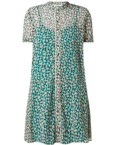 Sukienka rozkloszowana z szyfonu turkusowa Freebird