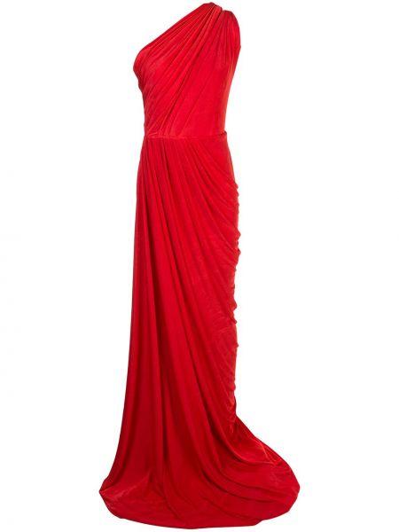 Плиссированное приталенное драповое платье с вырезом Rhea Costa