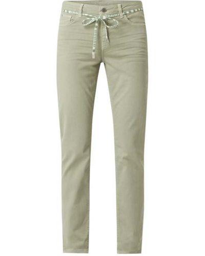 Zielone jeansy bawełniane Rosner