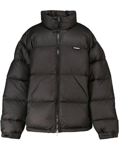 Czarna włoska kurtka puchowa Vetements