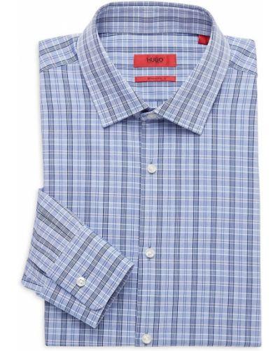 Koszula bawełniana z długimi rękawami z printem Hugo Hugo Boss