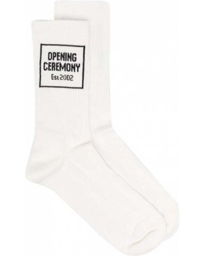 Хлопковые белые носки эластичные Opening Ceremony