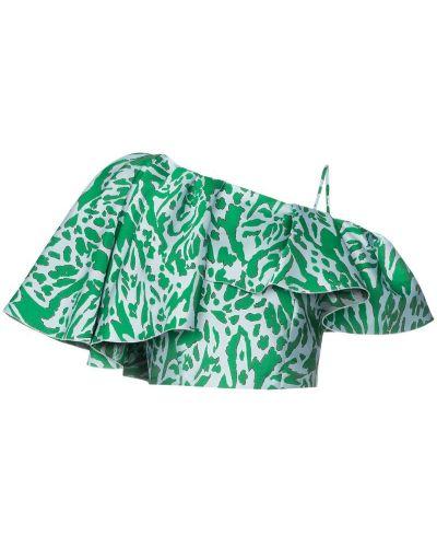 Топ с леопардовым принтом зеленый Vika Gazinskaya