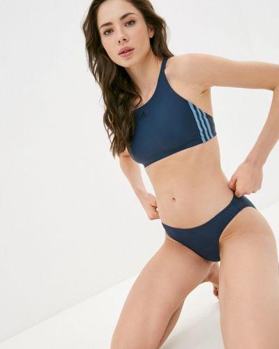 Синий купальник Adidas