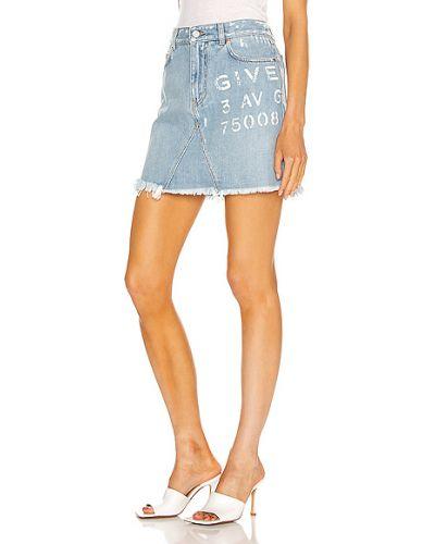 Niebieska spódnica mini bawełniana Givenchy