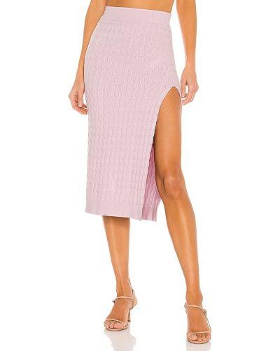 Повседневная шерстяная фиолетовая юбка миди Lpa