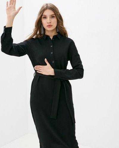Прямое черное платье Rivadu