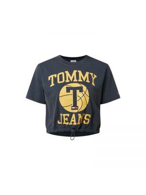 Niebieski koszula jeansowa bawełniany Tommy Jeans