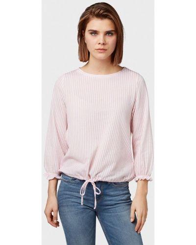 Блузка с длинным рукавом розовая весенний Tom Tailor Denim