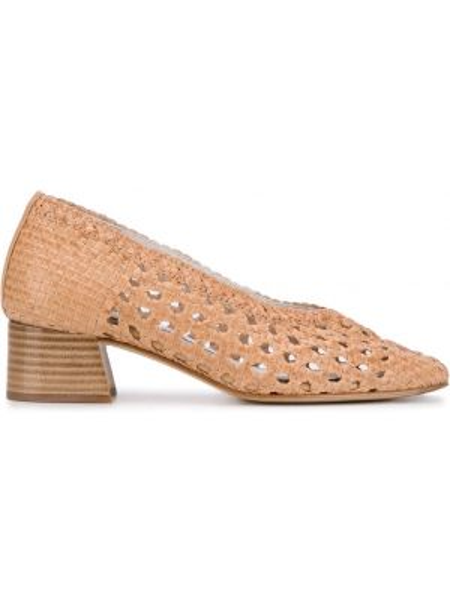 Туфли-лодочки без застежки круглые на каблуке Miista