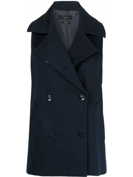 Синий пиджак двубортный без рукавов Circolo 1901