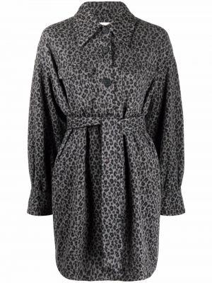 Czarny długi płaszcz wełniany Dvf Diane Von Furstenberg