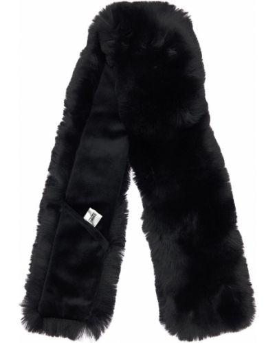 Czarny szalik sztuczne futro Bomboogie