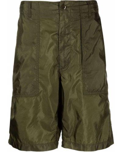 Нейлоновые зеленые шорты с карманами Engineered Garments