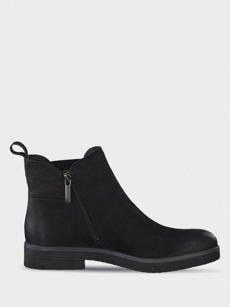 Текстильные повседневные черные ботинки Tamaris