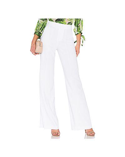 Белые брюки со складками Alice + Olivia