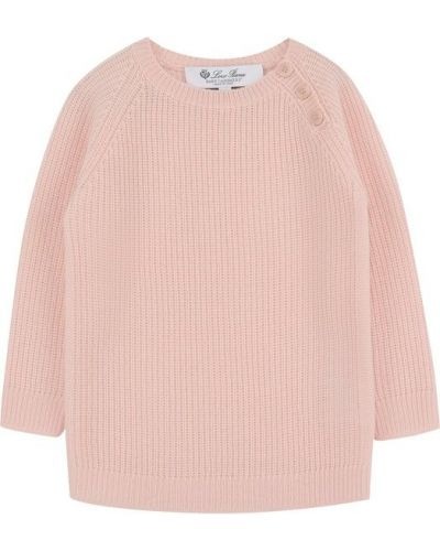 Пуловер кашемировый в рубчик Loro Piana