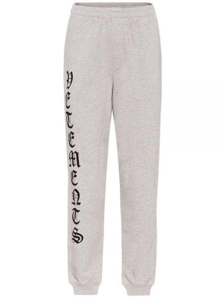 Ватные серые спортивные брюки из штапеля Vetements