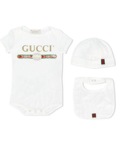 Niebieska piżama bawełniana z długimi rękawami Gucci Kids